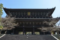Japan-Reise, Chion im Tempel, im April 2018 stockfotos