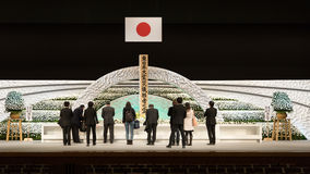 Japan remembers victims of Tsunami. Royalty Free Stock Photos
