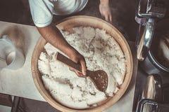 Japan rice in hangiri. Stock Image
