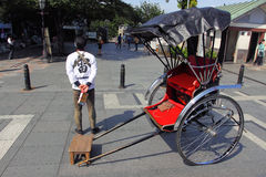 Japan : Rickshaw Royalty Free Stock Images