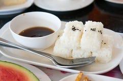 Japan risbunke med soya Arkivbild