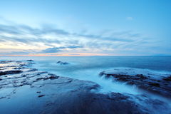 Japan Rocky Coast. At enoshima island Stock Images