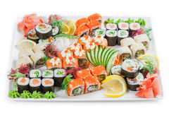Japan Roll on a plate. Allsorts stock images