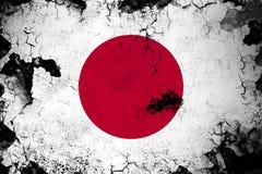 Japan rostig und Schmutzflaggenillustration stock abbildung