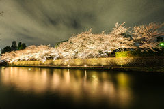 Japan`s cherry blossom season. Kyoto, Japan on the Okazaki Canal during the spring cherry blossom season Stock Photo