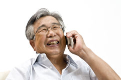 Japan's elderly. Old Japanese businessman in a suit Royalty Free Stock Images