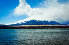 Japan's Fuji mountain. Fuji hill is a volcano, is a world famous tourist area Royalty Free Stock Photos