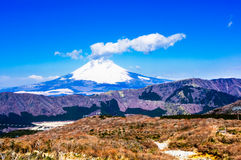 Japan's Fuji mountain. Fuji hill is a volcano, is a world famous tourist area Stock Photos