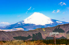 Japan's Fuji mountain. Fuji hill is a volcano, is a world famous tourist area Royalty Free Stock Photography