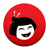 Japan's icon wit a face Stock Images