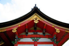 Japan's Kiyomizu-dera temple eaves Royalty Free Stock Image