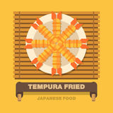 Japan's national dishes,Tempura Fried - Vector flat design Royalty Free Stock Photography