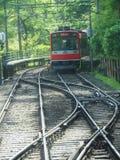 Japan`s Railway System. Multiple train tracks in Japan`s railway system Royalty Free Stock Images