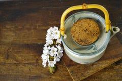 Japan's teapot with sakura flowers Royalty Free Stock Image