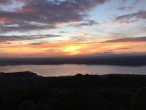 Japan sakura sakurashima mount volcanic could Stock Photography