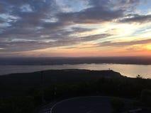 Japan sakura sakurashima mount volcanic could Stock Photo