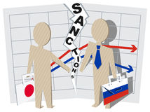 Japan sanctions against Russia negative impact on business Stock Images