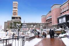 Japan Sapporo - JANUARI 13, 2017: Ishiya chokladfabrik Arkivbilder