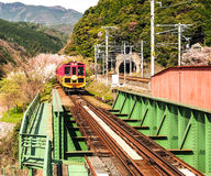 Japan scenic train, Kyoto, Japan 1 Royalty Free Stock Images
