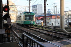 Japan scenic train, Kyoto, Japan. Train station in the Arashiyama,Kyoto,Japan Stock Photography