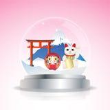 Japan-Schneekugel lizenzfreie abbildung
