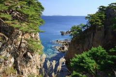 Japan sea. Autumn trees 2 Stock Photography