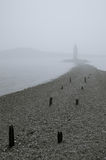 Japan sea. Lighthouse in fog Royalty Free Stock Images