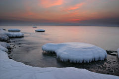 Japan sea in winter 10. Near Vladivostok, Russia, Far-East. Winter Stock Photos
