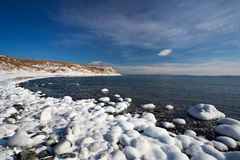 Japan sea in winter 4. Near Vladivostok, Russia, Far-East. Winter Stock Photo