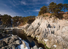 Japan sea in winter 5. Near Vladivostok, Russia, Far-East. Winter royalty free stock image