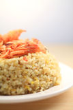 Japan seafood Fried rice. Rice,Asian rice,Asian cuisine,Food and beverage,A healthy diet,Asian characteristics,Fish eggs Fried rice stock photography