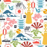 Japan seamless pattern Royalty Free Stock Photography