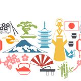 Japan seamless pattern Royalty Free Stock Images