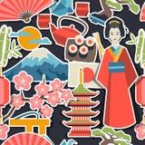 Japan seamless pattern Royalty Free Stock Image
