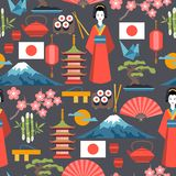 Japan seamless pattern Stock Images