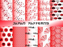 Japan seamless patterns set Royalty Free Stock Image