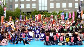Japan : Sendai Suzume Odori 2011 stock video footage