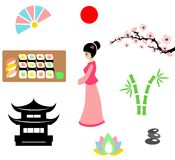 The japan set Stock Images