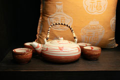 japan set tea Royaltyfri Fotografi