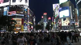 Japan : Shibuya. Shibuya is one of the 23 special wards of Tokyo, Japan. As of 2008, it had an estimated population of 208,371 and a population density of 13,540 stock footage