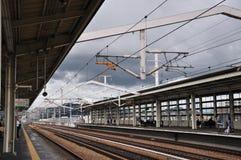 Japan shinkansen järnvägsstationen arkivfoton