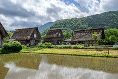 Japan,Shirakawa-go June 2 2017:Historic Villages of Shirakawa-go and Gokayama in spring stock image