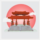 Japan. Shire gate for background Royalty Free Stock Images