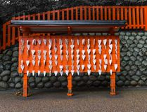 Japan shrine, Small wooden plaques Royalty Free Stock Images