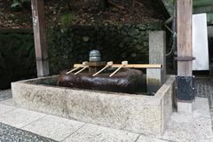 Japan shrine water purification. Alter Royalty Free Stock Image