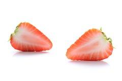 Japan skivad jordgubbe på vit 2 Royaltyfri Foto
