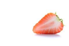 Japan skivad jordgubbe på vit Arkivbilder