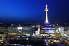 Japan skyline at Kyoto Tower Royalty Free Stock Image