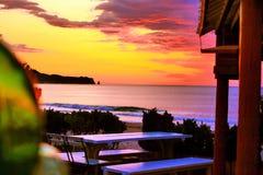 Japan soluppgångHebara strand Chiba nära till det tokyo havet Arkivbild
