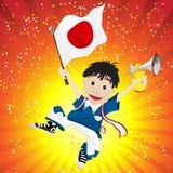 Japan Sport Fan with Flag and Horn Stock Photos